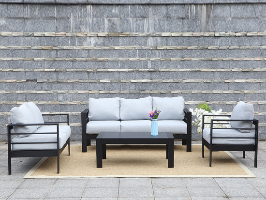 SGS 4pcs high quality Alu Outdoor Sofa