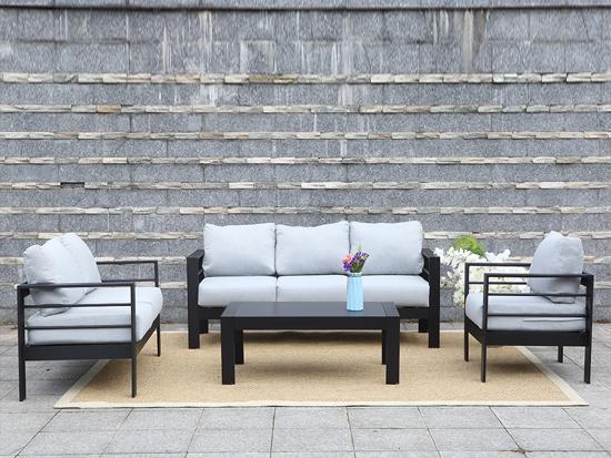 SGS 4pcs high quality Alu Outdoor Sofa