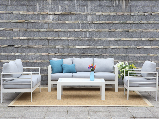 4 PC K/D aluminum frame sofa Patio Furniture Set Outdoor leisure Sofa Set