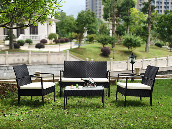 Special Design Patio Furniture Set Leisure Usage PE Wicker Rattan Material Garden Sofa set