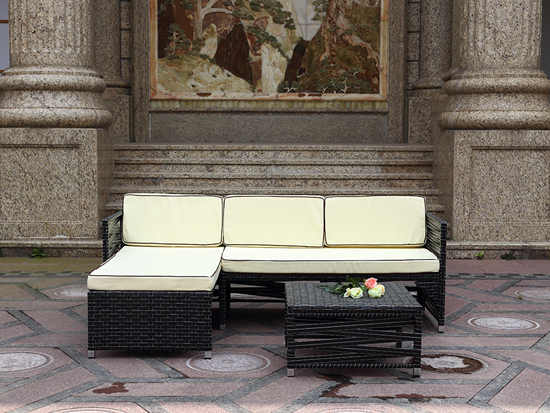 Symmetrical design Sectional Sofa  Patio Outdoor Usage Furniture