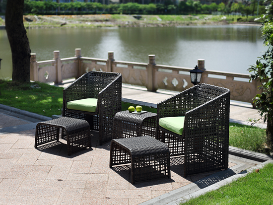 Cheap Price PE RattanOutdoor Furniture Garden Chairs Set/HB21.9222