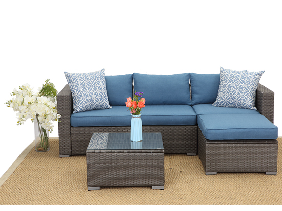 Matching Cushion Specific Usage Wicker Home Outdoor Furniture Sofa