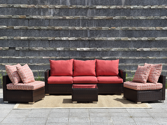 NEW super quality fabric rattan sofa outdoor garden patio furniture